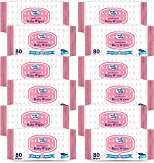 Cool & Cool Baby 80 Wipes, Pack of 12
