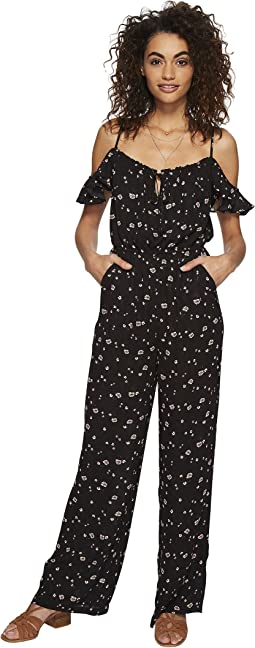 Arleen Printed Off the Shoulder Jumpsuit