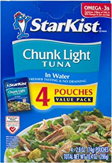 StarKist Chunk Light Tuna in Water – 2.6 Ounce Pouch (Pack of 4)