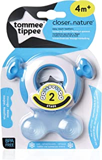 Tommee Tippee Closer to Nature Teether Stage 2, (4 months +), Assorted Colors