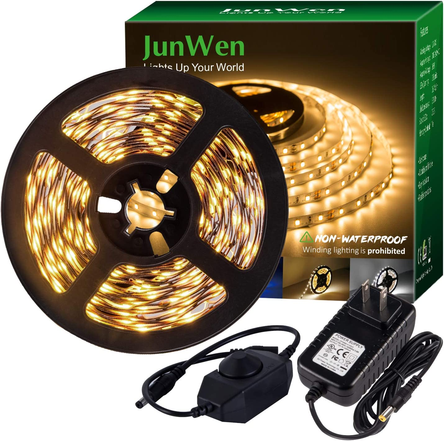 JUNWEN LED Strip All stores are sold Light Warm White S 12V Max 63% OFF Dimmable Soft Lights