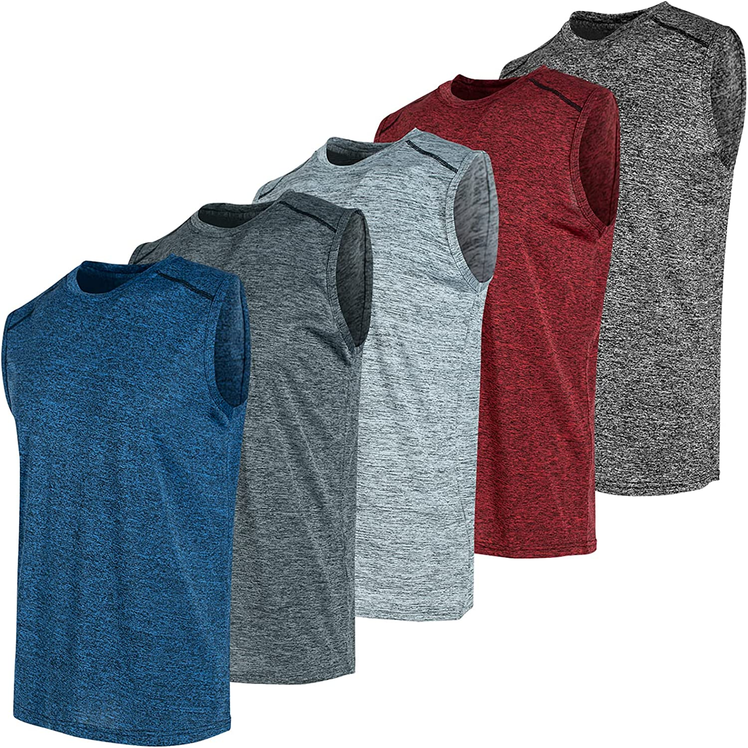 Pack of 5 Limited time for free shipping Dry Fit Mens Tank Shirts Tops Sleeveless Me Minneapolis Mall for Muscle