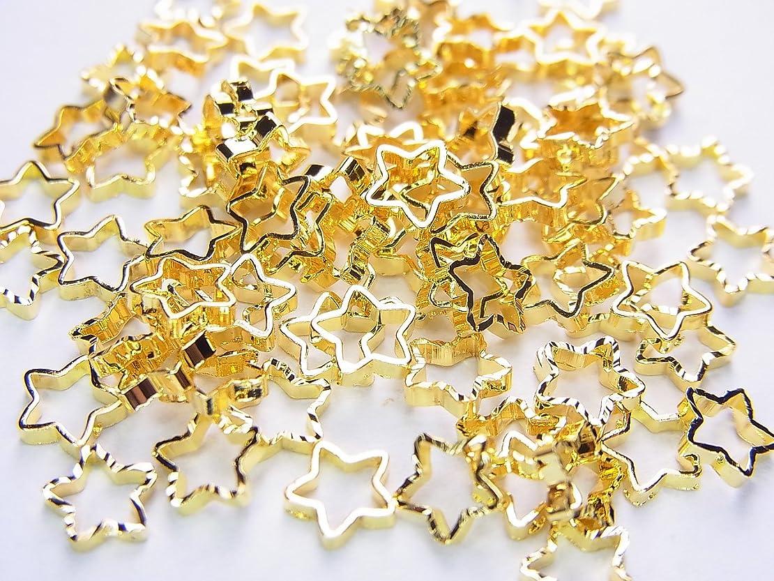 乳白色指紋外交問題【jewel】ネイルパーツ ゴールド スター 10個 星形 金属パーツ