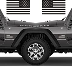Classic Biker Gear Ghosted Subdued American Flags Tactical Military Flag USA Decal 3