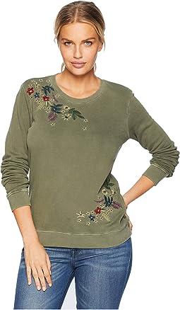 Embroidered Flowers Sweatshirt