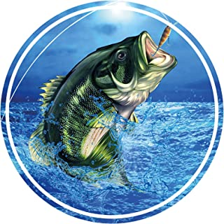 Largemouth Bass Fishing Vinyl Bumper Sticker Boat Decal Fishing Tackle Boxes Stickers Fish Decals Car Fishing Boating Tackle Box Funny Stickers Bass Fishing Decals for Trucks USA America S030