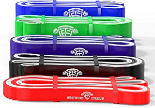 featured product WODFitters WF Titanium Resistance Bands - Choose Single Band OR Set - Heavy Duty Powerbands for Pull Up Assistance, Mobility Exercises, Workout, Exercise and Fitness