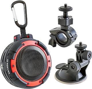 KYOHAYA SOUND  GEAR Bluetooth4.0 スピーカー 【完全防水 IPX8規格/技適取得済/ワイヤレススピーカー/アウトドア/内臓マイク搭載】レッド JKBT098RD