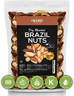 Sponsored Ad - Dry Roasted Brazil Nuts Sea Salted 32oz (2 Pounds) No Oil | No Herbicides Or Pesticides | Non GMO | No PPO ...