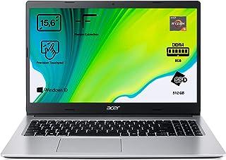 """Acer Aspire 3 - Portátil 15.6"""" FullHD (Ryzen 5 3500U, 8GB RAM, 512GB SSD, UMA Graphics, Windows 10 Home), Color plata - Te..."""