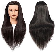 "Training Head 26""-28"" Female Mannequin Head Hair Styling Manikin Cosmetology Doll Head Long Hair Synthetic Fiber Hair Hair..."
