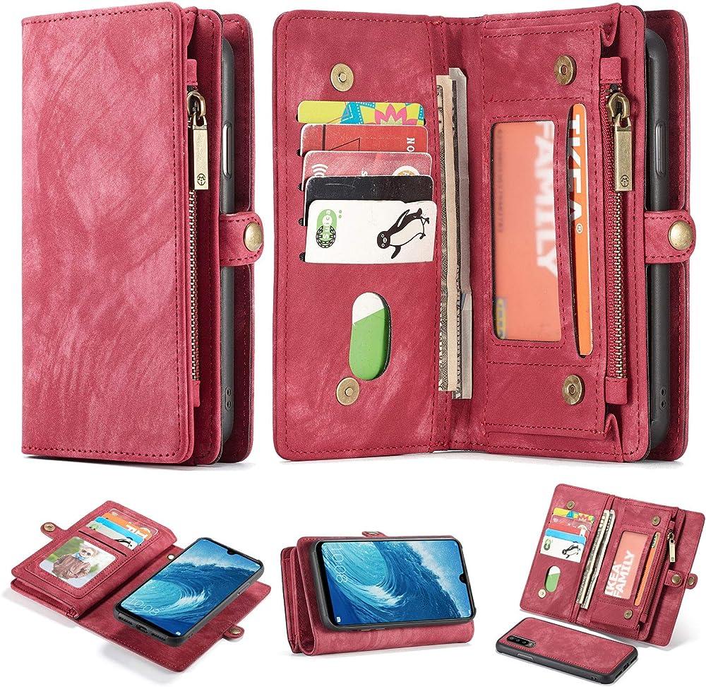 Simicoo portafoglio in pelle porta carte di credito custodia per huawei p30 pro