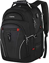 School Backpack, Large Backpack for Men Women Large Travel Backpack with USB Charging Port,TSA Friendly Water Resistant College School Bookbags Gifts for Girls Boys Fit 17 Inch Computer,Black
