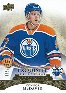 2015-16 Upper Deck Exquisite Collection CONNOR McDAVID 185/299 Rookie RC