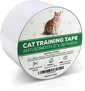 RETRO PUG Cat Training Tape – Scratch Deterrent – Anti-Scratch Adhesive Tape – Scratch Protector for Furniture, Couch, Carpet, Bed – Non-Toxic Safe Cat Scratch Prevention Tape – Pet Scratch Protector