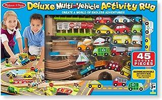 Melissa & Doug Deluxe Multi Vehicle Activity Rug Play Set