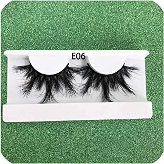 ICHIGO33 4Pairs / Pack 25Mm Extra Long And Fluffy Real Mink Lashes 100%Cross Dramatic Volume False Lashes Extension、1Pairs