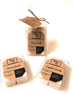 E&E Company All Natural 2-Pack Soy Wax Melts, Long Lasting Fragrances Infused with Essential Oil
