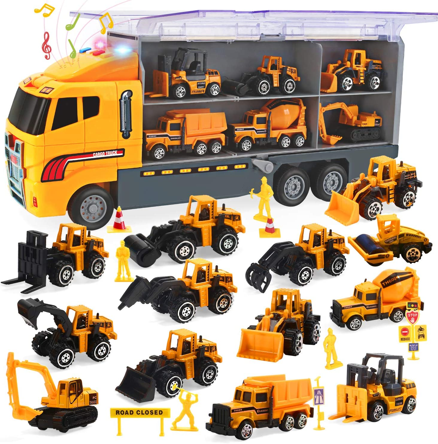 CUTE STONE 25 Ranking TOP9 in 1 Special price Construction Trucks and Push Car Carrier Go T