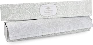 Raymond Waites Fresh Linen Scented Drawer Liners - 5 Non Stick Shelf Liners, Printed Shelf Paper and Drawer Lining Paper Sheets with Matching Gift Box (16.5