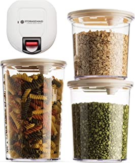 StorageMaid Rechargeable Vacuum Seal Food Storage Container, Set of 3