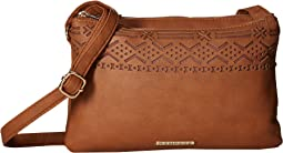Lasercut Double Gusset Crossbody