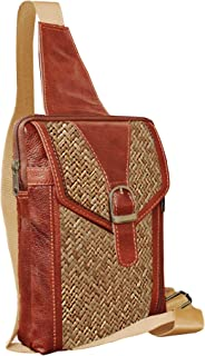 ABYS Genuine Leather Cash Bag||Chest Bags||Body Bag ||Travel Leather Bag for Men & Women (Brown)