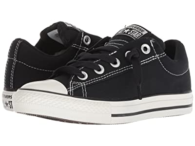 Converse Kids Chuck Taylor(r) All Star(r) Street Ox (Little Kid/Big Kid) (Black/Lily White) Kid