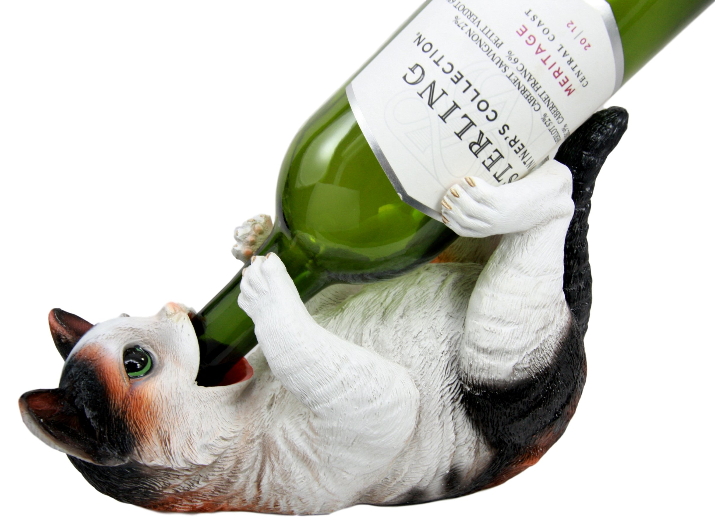 Atlántico coleccionables gatos Calico americano Shorthair gato para botella de vino soporte para figura decorativa: Amazon.es: Hogar