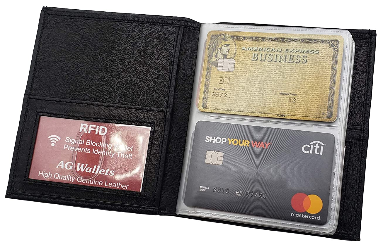 離れた小人楽しいAGウォレットRFID信号ブロックレザーEuropeanヒップスター財布、ブラック、5?x 4.5-inch