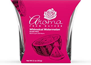 Aroma From Nature Whimsical Watermelon 11 oz AireCare Scented Candle - 1 Pack - Aromatherapy Candles - Home Fragrance - Ap...