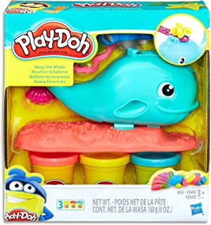 Play-Doh - Wavy the Whale playset inc 3 Tubs of Dough & Acc - Creative Kids Toys - Ages 3+