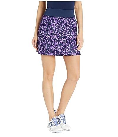 adidas Golf Ultimate Knit 16 Printed Skort (Active Purple) Women