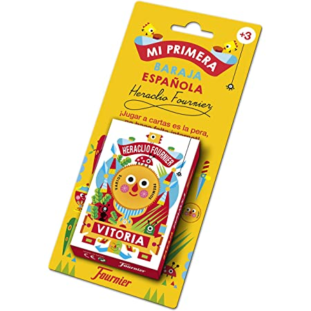 Fournier-Mi Primera Baraja Española Cartas Infantil, Multicolor (1030939)