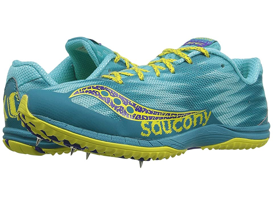Saucony Kilkenny XC Spike (Teal/Yellow) Women