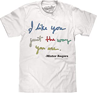 Tee Luv Mister Rogers T-Shirt - I Like You Just The Way You are Mr Rogers Shirt