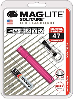 Maglite Solitaire LED 1-Cell AAA Flashlight Hot Pink