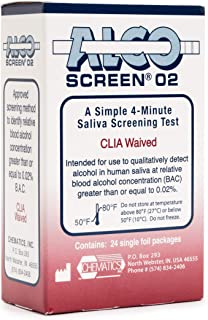 AlcoScreen02 DOT Approved Alcohol Test (Pack of 5 Tests)