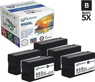 AZ Compatible Ink Cartridge Replacement for HP 950XL (CN045AN) OfficeJet Pro 251DW OfficeJet Pro 8600 OfficeJet Pro 8600 Premium OfficeJet Pro 8625 OfficeJet Pro 276DW MFP (Black, 5-Pack)