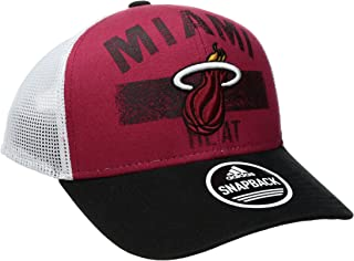 NBA Miami Heat Men's Downtown Trucker Meshback Hat, Red, One Size