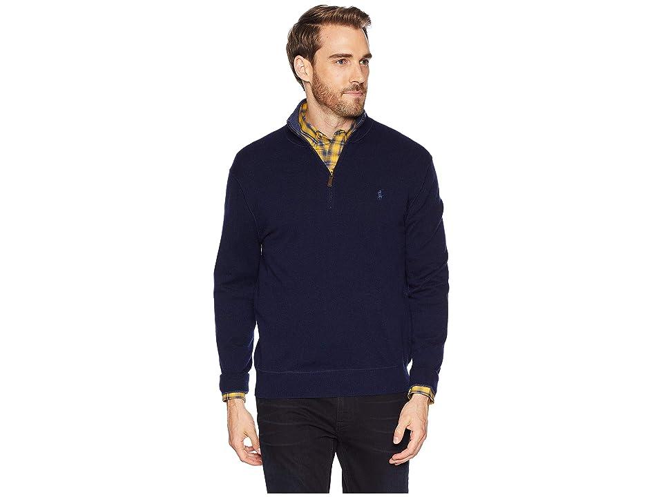 Polo Ralph Lauren Washable Cashmere 1/2 Zip Sweater (Hunter Navy) Men