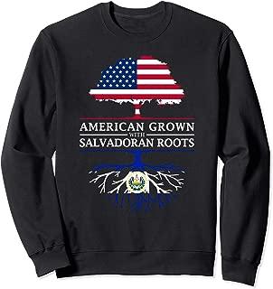 American Grown with Salvadoran Roots - El Salvador Sweatshirt