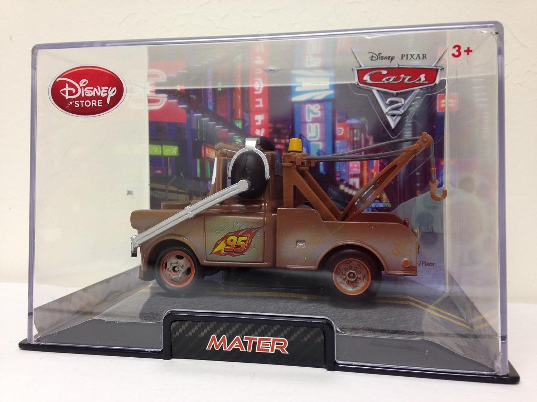Authentic Disney Store Movie Exclusive Pixar Cars 148 Die Cast Car Vehicle in Plastic Display Case - Mater by Disney