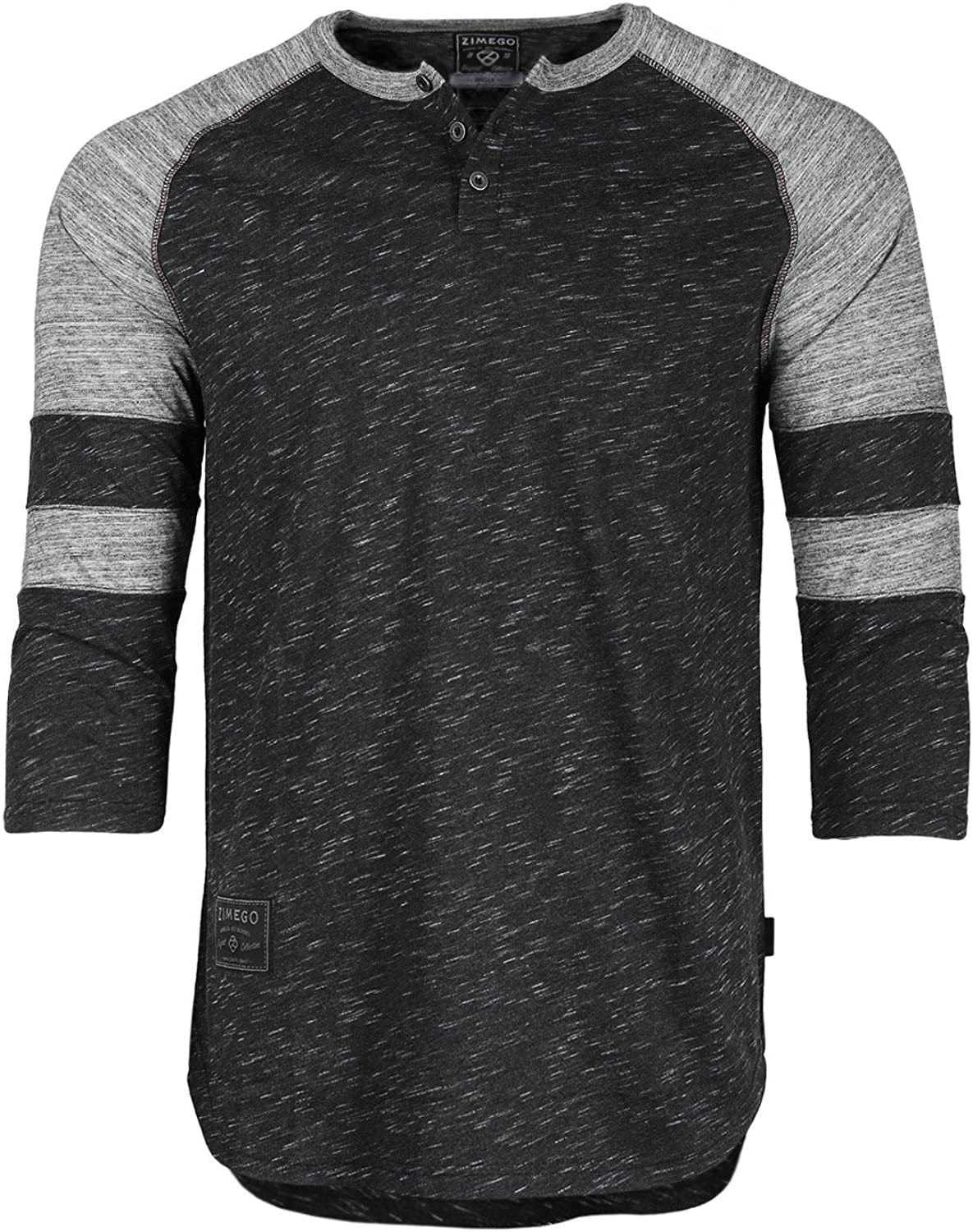 ZIMEGO Men's 3 4 Sleeve College Football online shopping mart Butto Athletic Baseball