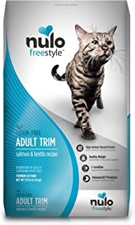 Nulo Grain Free Dry Cat Food - Indoor, Adult Trim, or Hairball Management with BC30 Probiotic, Salmon, Duck or Turkey Recipe - 5 or 12 lb Bag