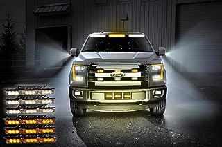 Zone Tech Amber White 54x LED Emergency Service Vehicle Deck Grill Warning Light - 1 set