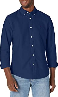 Men's Long Sleeve Solid Oxford Button Down Shirt in...