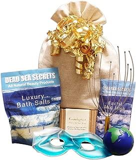 Premier DEAD SEA SECRETS Relaxation Bath & Body Spa Gift Set: Dead Sea Salts Lavender Dead Sea Mud Mask Eucalyptus Oil Tea Tree Oil Soap Stress Ball Scalp Massager Soothing Gel Eye Mask