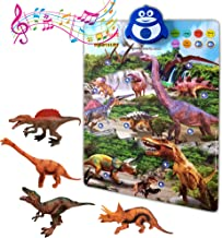 Dinosaur Toys Interactive Learning Poster Kit with Music, Games and Educational Activities for Toddlers, PreK-1 Grade Boys and Girls Ages 2,3,4,5,6 Years Olds - Realistic Dinosaurs, Pack of 4 Figures