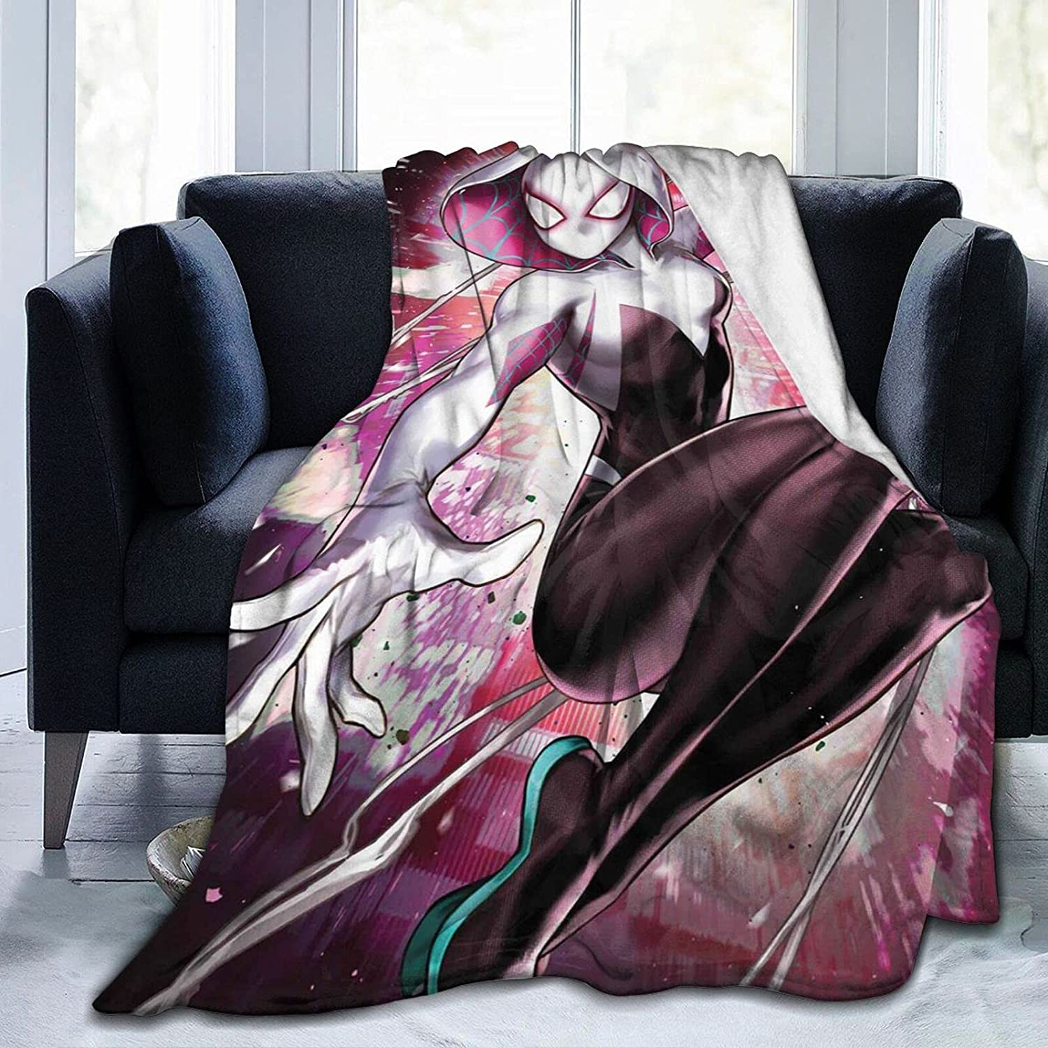 Shunbitop Spider-Gwen Blankets 正規品スーパーSALE×店内全品キャンペーン 5☆好評 and Throws Soft Ind Thermal Super
